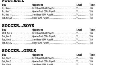 November 2016 – Parkrose High School Athletic Schedule