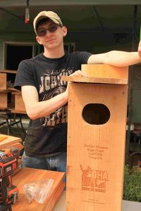 Zach Marquez built 20 wood duck nesting boxes to earn the rank of Eagle Scout in Boy Scout Troop 606. COURTESY JOHN MARQUEZ