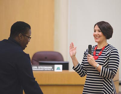 Last month, former east Portland legislator Jessica Vega Pederson was sworn in as Multnomah County Commissioner. COURTESY MULTNOMAH COUNTY