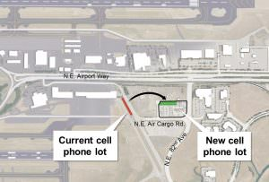 New development near Portland International Airport to include a well-lit cell phone waiting area, fueling station, coffee shop, pizza parlor, car wash and electric vehicle charging stations. COURTESY PORT OF PORTLAND