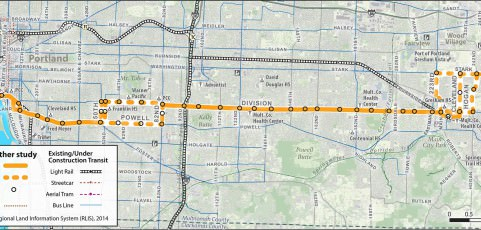 Powell-Division rapid transit line leans toward 82nd as crossover point