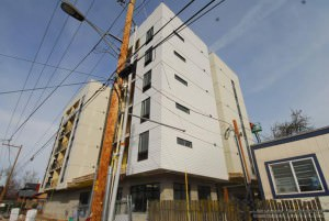 The 60-unit Gilman Court complex for low-income seniors 55 and over is 90 percent complete. COURTESY REACH CDC