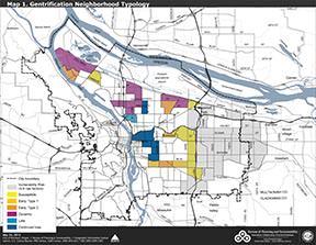 Portland Oregon Map Of Neighborhoods.Gentrification Possible Neighborhoods Show Improvements East