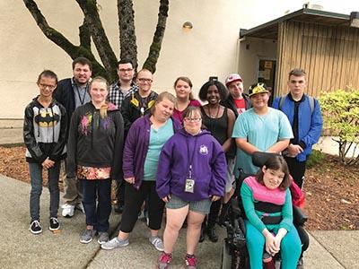 Parkrose LEAP students at home on the MHCC/Maywood Park, 10100 N.E. Prescott St. COURTESY LISA GUTIERREZ