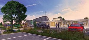 An Architectural rendering of upgrades and expansion to St. Joseph the Worker Parish, 2400 S.E. 148th Ave., that began last month. COURTESY DILORETO ARCHITURE