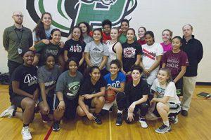 2016 Parkrose High School Girls Varsity Basketball Team STAFF/2016