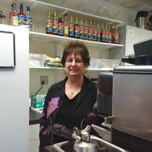 Mocha Mama Café owner Joan Ormsby bought the coffee shop inside Mt. Hood Community College's Maywood Park campus in 2014. STAFF/2017