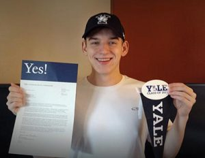 Gunnar Schlichting, a Parkrose senior, will attend Yale University in New Haven, Conn., this fall. COURTESY PARKROSE HIGH