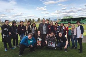 Bronco artists with awards earned at NWOC festival. COURTESY PARKROSE HIGH