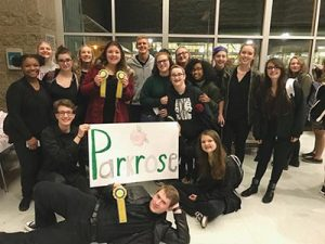 PHS theatre students at the Oregon Thespians Regional Acting Competition. COURTESY PARKROSE HIGH