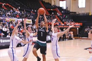Despite being double-and triple-teamed much of the season, senior point guard and team captain Isaac Bonton led Parkrose to a third-place finish in the state tournament last month, the Broncos' highest finish since placing fourth in 1983. STAFF/2017