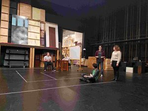 "Parkrose High School drama students rehearse for the play ""Flowers for Algernon"" in May. Performances are set for May 11, 12, 13, 19 and 20 at 7 p.m. and May 21 at 2 p.m.  in the PHS theater, 12003 N.E. Shaver St. COURTESY TOM CAVANAUG"