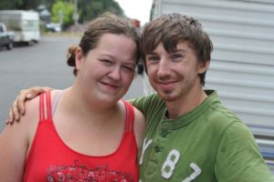 Amanda Snow and Ray Pitzer recently moved their trailer from a camp on Northeast 14th and Columbia Boulevard to Northeast Marx street between 112th and 113th avenues. Homeless for more than two years, they say police harassment and new No Parking signs caused their move to Parkrose. Pitzer is from Georgia; Snow is a native. STAFF/2017