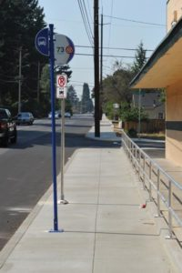 The Prescott Street sidewalk project is complete. Sidewalks on the north side of Prescott Street from Northeast 102nd Avenue to Northeast 99th Avenue are complete. TriMet can now increase service in the area. STAFF/2017
