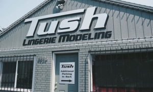 For what seemed like twenty minutes but was actually a week in August, Tush Lingerie Modeling operated on Northeast 105th Avenue in Parkrose before neighbors' complaints to city bureaus caused its closure. COURTESY WILLAMETTE WEEK