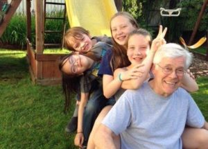 James Brown enjoyed challenging Parkrose High students in his chemistry, science and math classes for 30 years. He's pictured with his grandchildren. COURTESY BROWN FAMILY