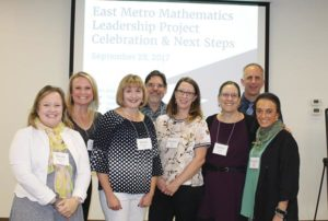 A coalition of local mathematicians and educators dreamt up the East Metro Mathematics Leadership Project. The project leadership team is, from left, Nicole Rigelman, Portland State University; Amy McQueen, David Douglas School District; Karen Prigodich, Centennial School District; Paul Latiolais, Portland State University; Chandra Lewis, RMC Research; Jackie Cooke, Multnomah Education Service District; Steve Vancil, David Douglas School District; and Roxanne Malter, Multnomah Education Service District. COURTESY NANCY EICHSTEADT