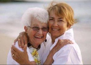 Dorinda Holloway with her mother and namesake, Dorinda Daggett. She was a David Douglas High School graduate. COURTESY HOLLOWAY FAMILY