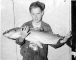 An avid sports fisherman since age five, Dave got his picture in the paper for catching this 26-pounder when he was seven. COURTESY LUCE FAMILY