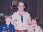 Dave was a Cub Scout Cubmaster for seven years, continuing this role even after his sons aged out of the program. He participated in several Boy Scout activities as Matt continued and earned his Eagle Scout designation. COURTESY LUCE FAMILY