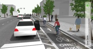 Construction on various projects in the Halsey-Weidler couplet, including the protected bike lanes, commences in January.