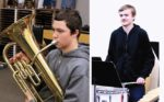 (left) Eighth-grader Kirk Mazurowski qualified to perform the euphonium in the All-State Middle School Band. COURTESY GRACE DUGGER (right) Caleb Orella was selected for the All-State Symphonic Band. He plays snare and timpani and is a sophomore. COURTESY GRACE DUGGER