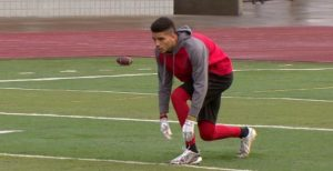 David Douglas High School receiver Jaydin Proctor leads the state in receiving yards. COURTESY KOIN 6 NEWS