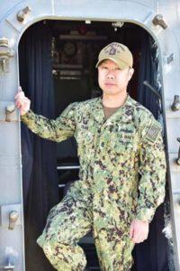 David Douglas High School graduate Lee Tran aboard the USS Gabrielle Giffords. COURTESY CHIEF MASS COMMUNICATION SPECIALIST ISAIAH SELLERS