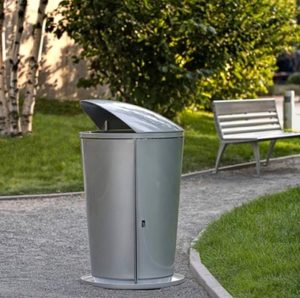 Seven trash cans like these have been installed around Gateway recently. STAFF/2018