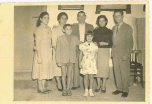 Shortly before immigrating to America, the whole Castellano family is pictured in Italy. Stefano is at the far right. COURTESY CASTELLNO FAMILY