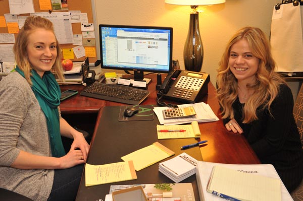 Brittany Kurtz, Left, And Kaitlyn Danna, Castellano Custom Furniture  Designers, Assist Customers