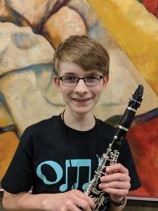 Connor Dukes, an eighth-grader at Columbia Christian School, performed at the Hult Center in Eugene with the 2018 Oregon Music Educators Association's Middle School All-State Honor Band. COURTESY ELI DUKES