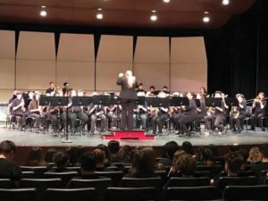 Parkrose Middle School eighth-grade honor band competing at the middle school band festival. COURTESY KEIJA LEE, BAND DIRECTOR