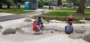 Children enjoying the Ventura Park water feature. STAFF/2018