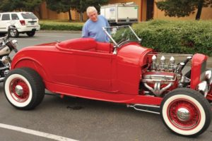 Jim Blew checks out a 1929 Ford T-bucket roadster. A classic car aficionado, Blew said he attends the event every year. STAFF/2018