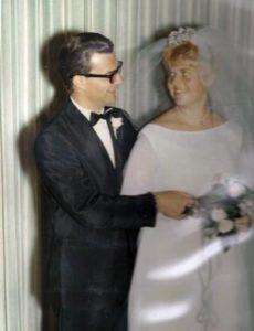 Bill and Mary Taylor beam at each other on their wedding day in 1968. COURTESY TAYLOR FAMILY