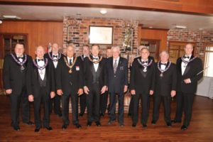 Last month, Past Exalted Rulers of the Gateway Elks Lodge gathered to celebrate the formal opening of their new lodge after three years operating out of one room while the building was remodeled and brought up to code. COURTESY GATEWAY ELKS LODGE