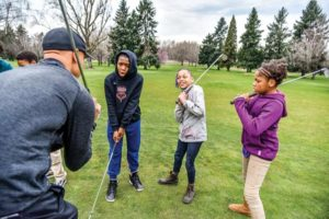 Kids can play golf for free at two PP&R courses this summer. COURTESY BEN BRINK and PP&R
