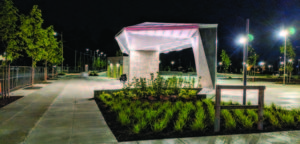 The park features a ranger station and is covered with night lighting. PHOTOS COURTESY PORTLAND PARKS & RECREATION
