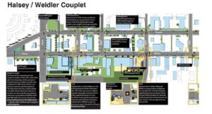 Plans for the Halsey Weidler couplet improvements. COURTESY PORTLAND BUREAU OF TRANSPORTATION