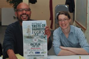 Last month, after more than three years as Historic Parkrose's executive director, Mingus Mapps, left, pictured with Historic Parkrose Economic Opportunity Coordinator Kate Coenen, took a position with the city's Office of Community & Civic Life (formerly known as the Office of Neighborhood Involvement). staff/2016