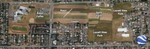 Development of Rossi, Giusto and Garre farms will be discussed at Dec. 11 meeting. Google Earth