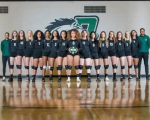 The Bronco volleyball team had a GPA of 3.82 to rank third in state. COURTESY MW PHOTOS
