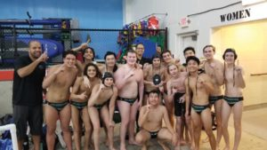 The Broncos are state champions. Parkrose boys water polo team entered the 5A tournament as first seed. They tallied a win against Churchill in the first round, beat Ashland 15-3 in the second and outscored West Albany 12-4 in the title game. Zach Tudor was named MVP of the tournament. Kadin LeBreton and Kelton McElhaney were named first team all-state, Ben McKee was second team and Jack Shank and Calvin Haynes earned honorable mentions. Parkrose water polo state champions pose with coaches Gary Muzzy and Emily Aronson. COURTESY DAUNTE GOUGE