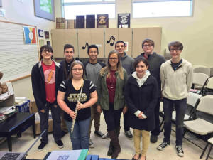 Honor choir and band members from Parkrose High: Easton Fiser (left), Jonathan Almasan, Kaitlyn Carter, Isamu Chang, Avery-Kiira Abney, Matt Mazon, Leah Coyle, Reed Bostic and Kai Fiser. COURTESY SALENA GARVER