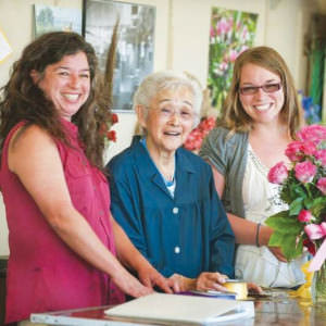 Three generations of the Itami family—Holly Itami Springfels, from left, Fumi Itami, and Kimberly Dee Walker—work at Kern Park Flower Shoppe, 6713 S.E. Holgate Blvd. COURTESY JOHN VINCENT, PORTLAND TRIBUNE