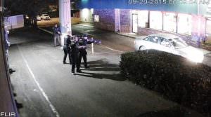 In September 2015, Olsen's cameras captured police surrounding armed robbery suspects at the drive-through window of the Mexican restaurant on Southeast 122nd Avenue, near Stark Street, adjacent to the Magic Inn. COURTESY LARRY OLSEN