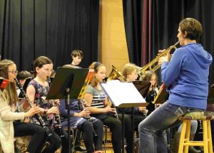 PCES band performing at last month's Student Showcase event. COURTESY RAYSHELLE EDMUNDS