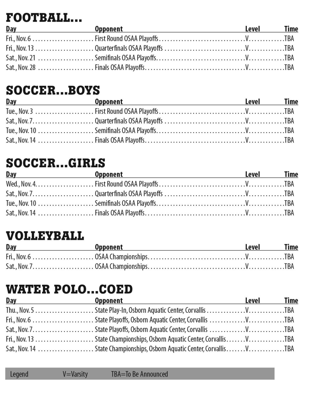 PHS_November2015_Athletic_Schedule