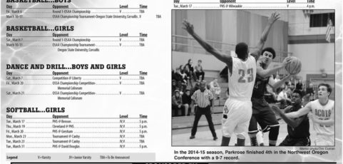 March 2015 – Parkrose High School Athletic Schedule